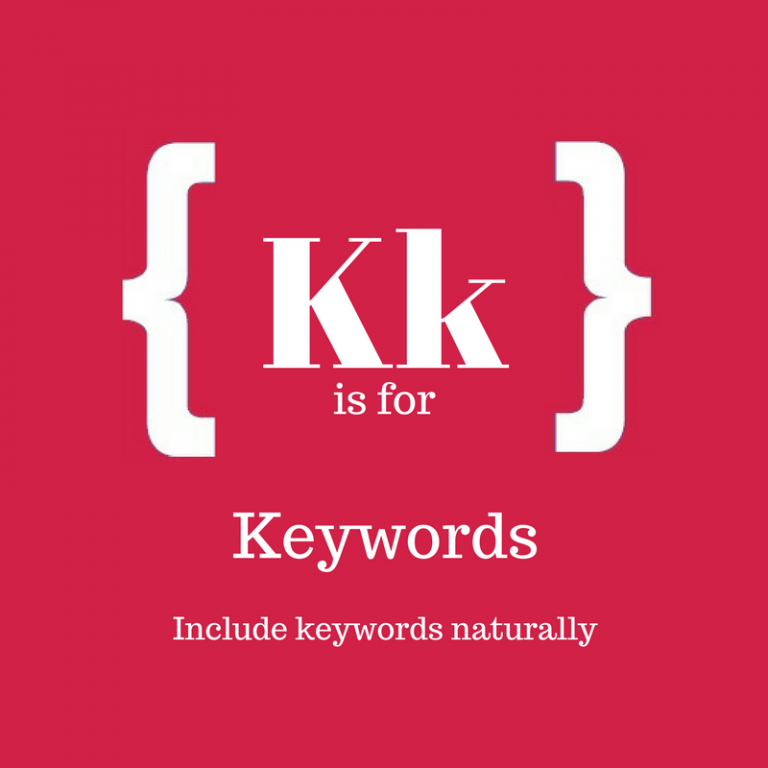 A-Z of Blogging: K is for Keywords