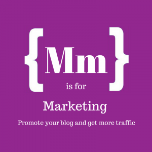 Text reads: M is for marketing