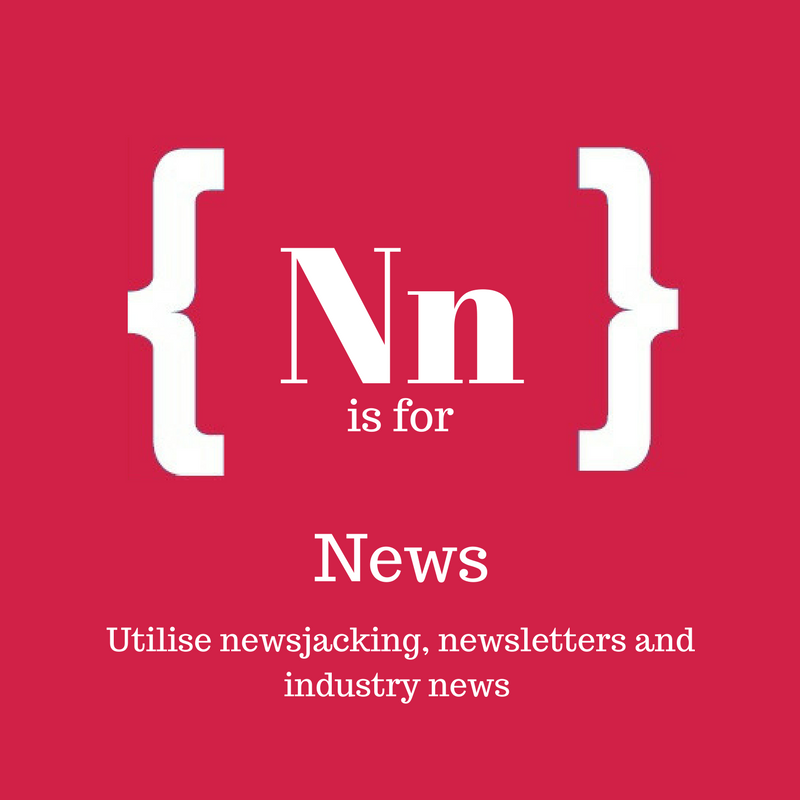 Text reads: N is for news