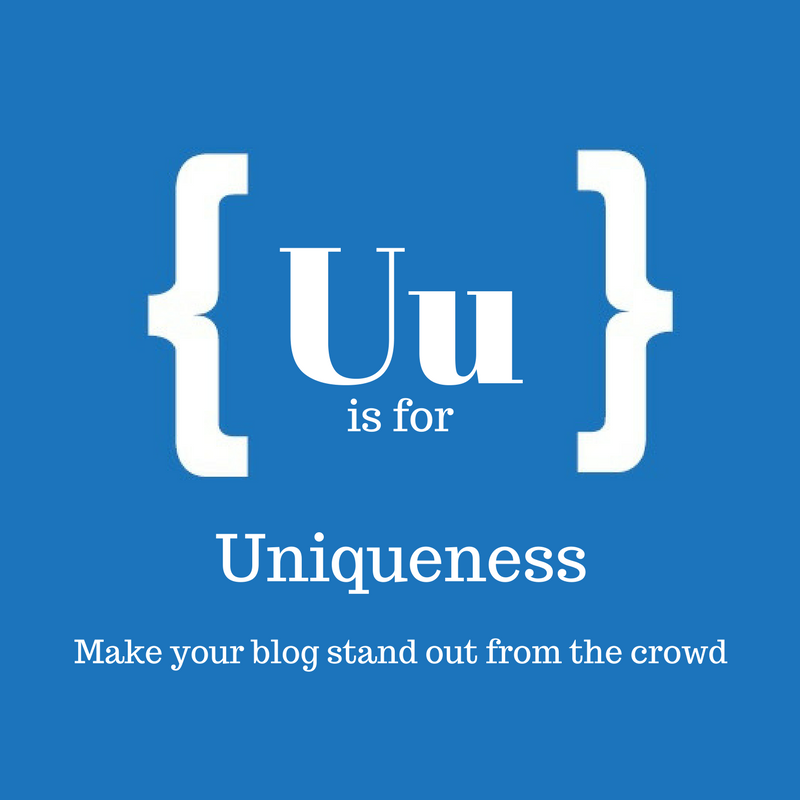 Text: U is for uniqueness