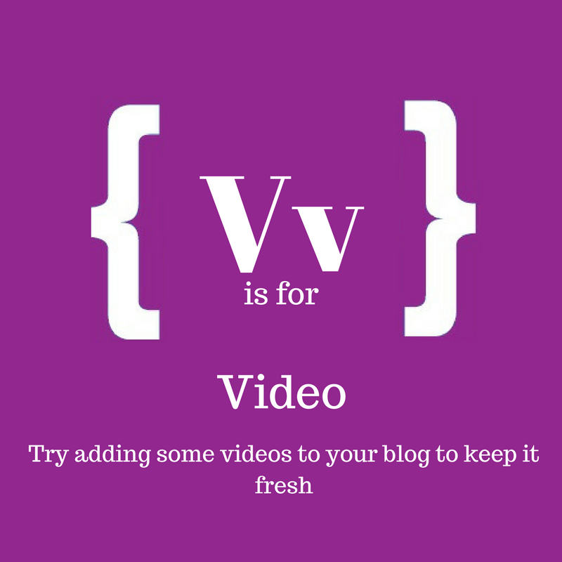 Text~: V is for video