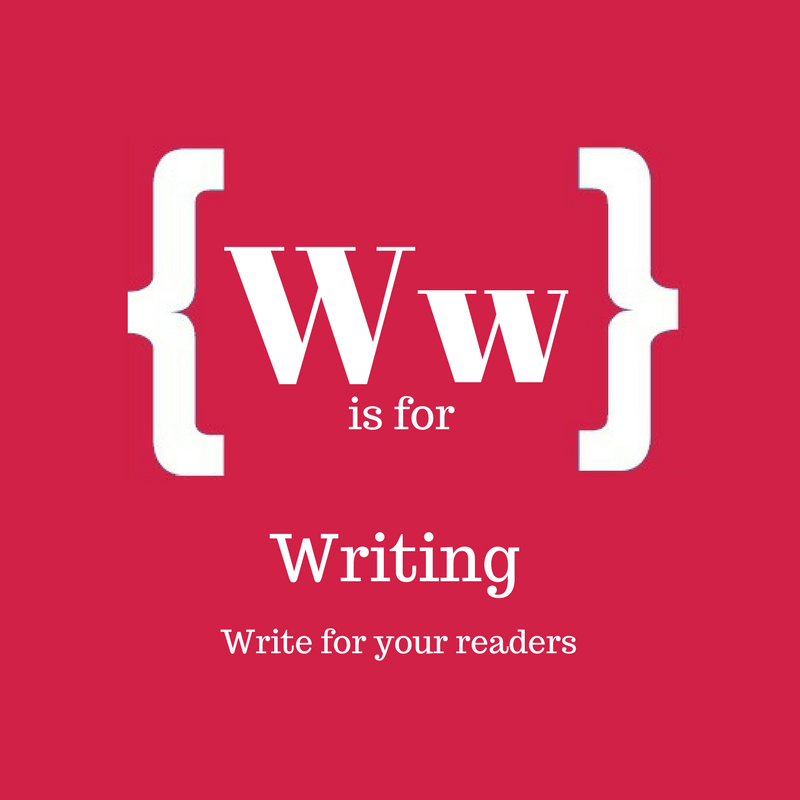 Text: W is for writing