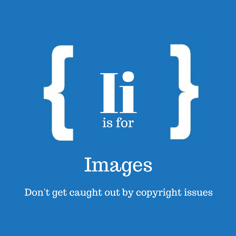 With text: I is for images