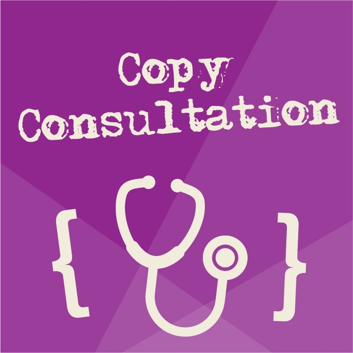 Purple Copy Consultation Website Graphic