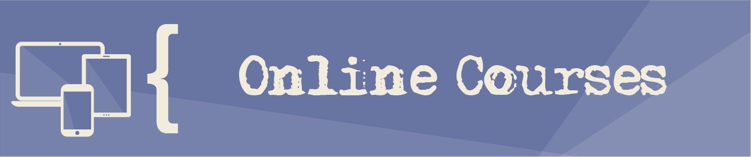 Online courses website banner
